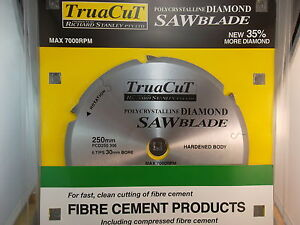 FIBRE CEMENT 250mm Diamond SAW BLADE - Cuts Hardie Products