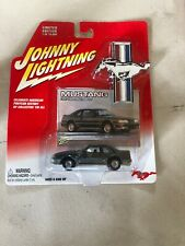 Johnny Lightning 1987 Ford Mustang GT Die Cast Car Dark Silver Grey Rare NIB