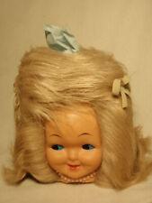 Vintage 1970s Baby Doll Face Head Blonde Hair Kleenex Tissue Box Cover Dispenser