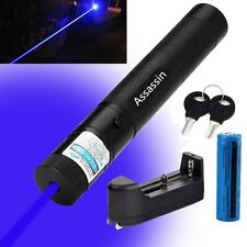 5mW 405nm Blue Purple Laser Pointer Pen Cat Toy Blue Laser Pen+Battery+Charger