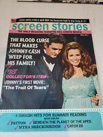Vintage Screen Stories Magazine Johnny Cash August 1970 No Label