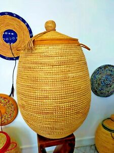 Alibaba Seagrass basket with leather trim and tassel