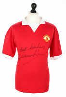 Denis Law Signed Manchester United 1970s Shirt Autograph Jersey Memorabilia COA