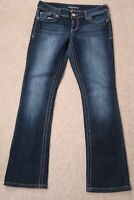 - Womens Jeans size 7 / 8 Reg, Maurices boot cut stretch low rise blue denim