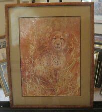 Cceetah Leopard Art Print Limited Edition 621/1500 framed & Double Matted