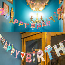 Happy Birthday & Party Cute Garland Design Christmas Home Party Bunting Banner