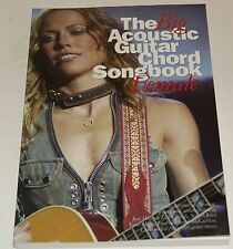 The Big Acoustic Guitar Chord Songbook Female Gitarre Akkord Notenbuch NEU
