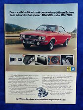 Opel Manta Vollautomatic - Werbeanzeige Reklame Advertisement 1973 __ (649