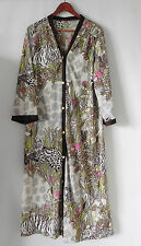Vtg Lorraine Robe/Lounge Wear/Cover Up Maxi 3/4 Sleeve Floral Size M