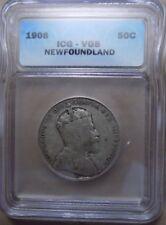 1908 VG8 newfoundland 50c coin (381)