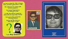 Roy Orbison Fab Card Collection American singer songwriter and musician Ballards