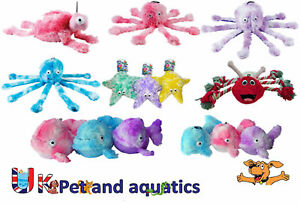Gor Pets Reef Dog Toys Assorted, Crinkle, Scrumple, Honk and Squeak, Soft Toys