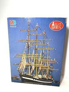 Vtg 1989 Milton Bradly 1000 Piece Jigsaw Puzzle Four Masted Bark Ship 51.1x66.5