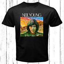 Neil Young Famous Logo Men's Black T-Shirt Size S-3XL
