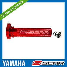 POIGNEE GAZ ACCELERATEUR ALU ROULEMENT YAMAHA YZF YZ-F 250 426 450 ROUGE SCAR