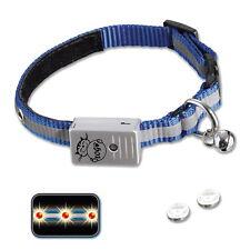 LED collare gatto Lampeggiante VISIBILE FINO 300 M NYLON RIFLETTENTE n78081