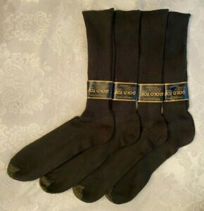 NWT Mens Vintage Gold Toe Slightly Imperfect Brown Dress Socks 4 Pair Size14-16