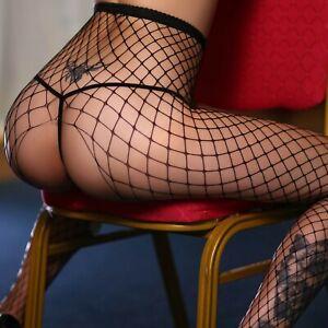Hosiery Women Stockings Pantyhose Socks Tights Nylon Hold Up Mesh Big Hole Sexy