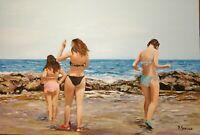 Acrílico su tela 40 x 60 cm firmato e autenticato realismo paesaggio