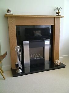 """Hand Made Solid Oak Fire Surround Mantelpiece """"Emley"""" Ossett Oak []''''''[]"""