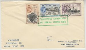 SIERRA LEONE 1958 CAMBRIDGE expedition to SIERRA LEONE official cover