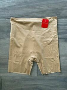 SPANX SIMPLICITY MID-THIGH SHORTS, SHAPER, NUDE, NWT $52, LARGE