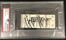Hulk Hogan Signed Ticket WWF 1990 Vintage Wrestling Tix Autograph PSA/DNA HOF