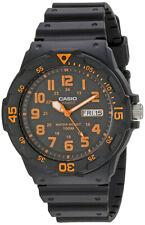 Casio Para Hombre Analógico 12/24 horas 100m Día/Fecha Reloj De Resina Negra MRW200H-4BV