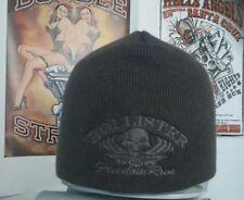 Mütze Beanie Strickmütze HollisterRun Biker für Harley DAVIDSON Custom  grau