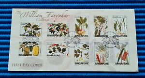 2002 Singapore First Day Cover William Farquhar Collection FRUITS AND PLANTS