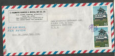 Japan 1987 air mail cover Hisamatsu Scientific & Medical Mfg Co Tokyo to USA