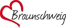 "AUTO Adesivo ""Braunschweig"" Sticker Città Germania circa 7x16cm konturgesch."