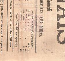 TIMBRE FRANCE FRANKREICH GUERRE 1870 N°7 OBLITERE USED SUR JOURNAL LE LUCONNAIS
