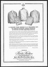1967 Brooks Brothers Cashmere Turtleneck Irish Knit Sweaters art promo print ad