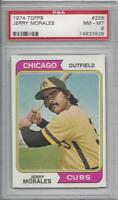 1974 Topps baseball card #258 Jerry Morales, Chicago Cubs graded PSA 8 NMMT