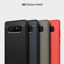 For Samsung Galaxy Note 8 9 S10 S9 S8 Screen Protect Slim TPU Rubber Armor Case