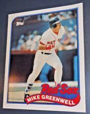 "MLB MIKE GREENWELL BOSTON RED SOX 1989 TOPPS 630 CARD FOLDER 9.5"" X 11.75"""