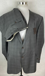 NWT! Jack Victor Vince Exclusive 100% Wool 2 Button Suit 56L 52 Waist Unfinished