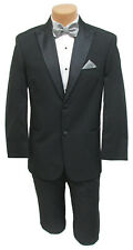 Men's Black Lord West Tuxedo Jacket with Satin Peak Lapels Prom Wedding Mason