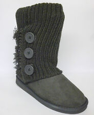 Pineapple Smooch Slouch Boots Grey Faux Suede Knitted Size 3 New £18.99