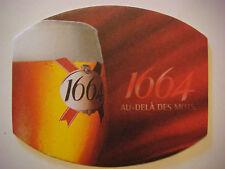 Beer Coaster Sous Bocks Bierdeckel <> Kronenbourg Bier ~ Obernai, FRANCE Brewery