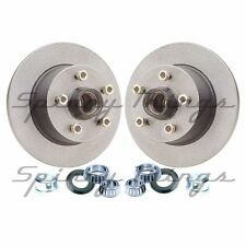 GALVANISED Trailer Brake Discs (PAIR) FORD studs HOLDEN bearings.Caravan Trailer