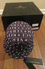 KITH x Versace Monogram Bucket Hat Black Reversible Kith Versace Medusa Logo New