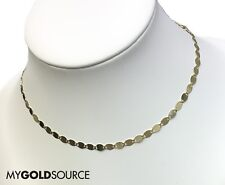 14k Yellow Gold Necklace Mirror Valentino Adjustable Yellow Gold Choker/Necklace