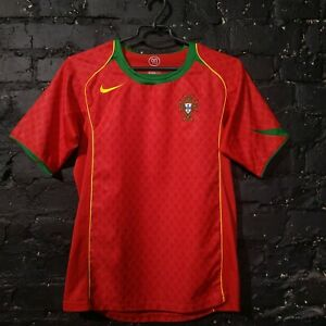 Portugal Jersey Home football shirt 2004 - 2006 Nike Camiseta Red Size Young XL