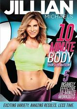 EXERCISE DVD - Jillian Michaels 10 MINUTE BODY TRANSFORMATION 5 workouts