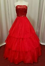 Red southern belle ball gown prom  formal 25 inch waist