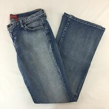 Guess Jeans Melrose Flare Stretch Denim Womens Size 32 Factory Faded