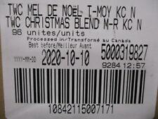 Timothy's World Coffee Christmas Blend Medium Roast Keurig K-Cup 96 Count