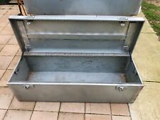 Galv Tool Box with Tamper resistant locks and gas struts to lid